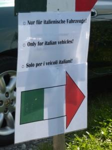 Nur für italienische Fahrzeuge