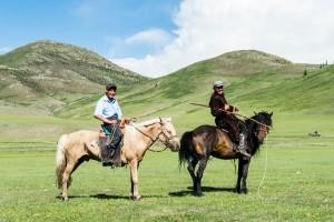 Reiter in der Mongolei