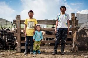 Kinder der Mongolei