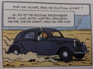 Aprilia im Comic von Tim und Struppi