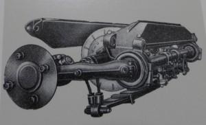 Zeichnung der hinteren Einzelradaufhängung